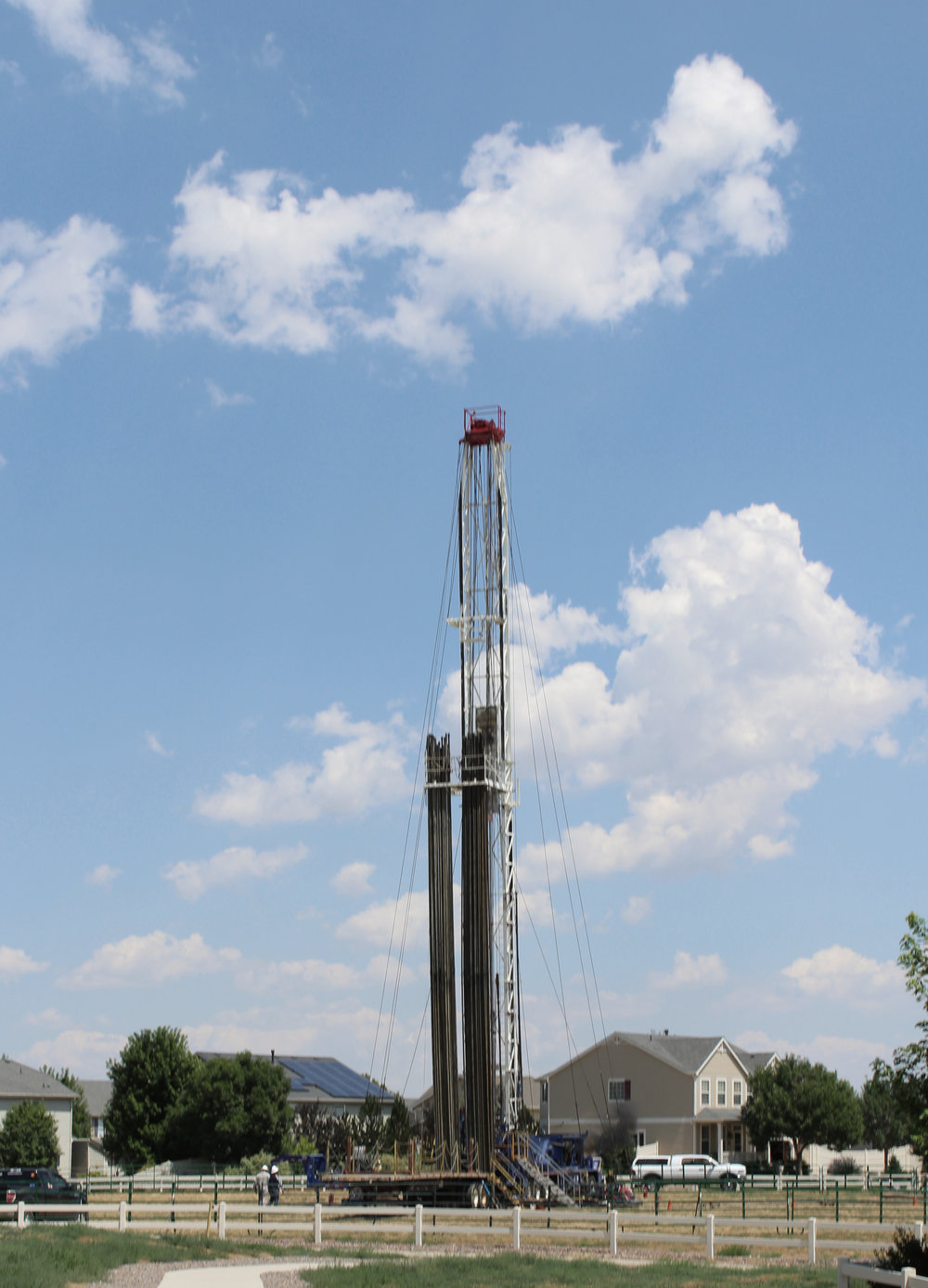 Fracking well, Weld County, CO. Photograph by David Brooks.