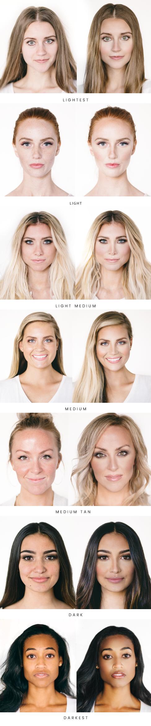Maskcara Shade Examples