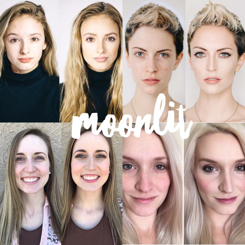 Maskcara Moonlit Before and Afters