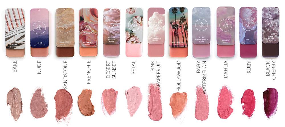 Maskcara IIID Foundation Lip and Cheek Blush Colors