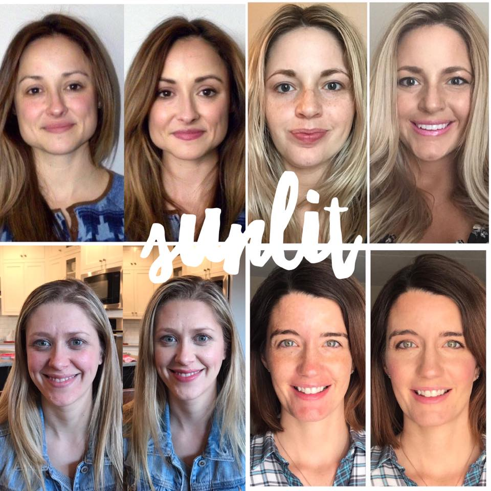 Maskcara Sunlit Before and Afters
