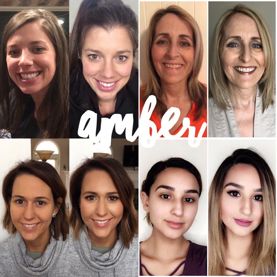 Maskcara Amber Before and Afters