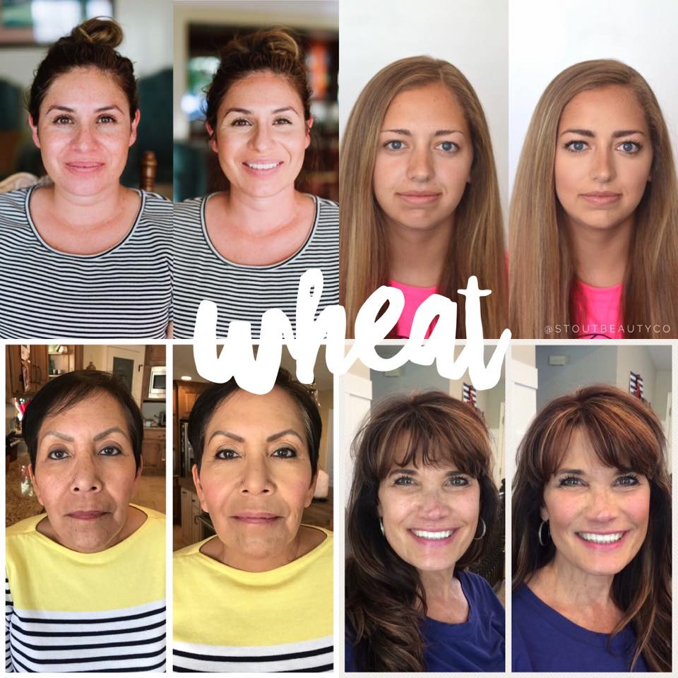 Maskcara Wheat Before and Afters