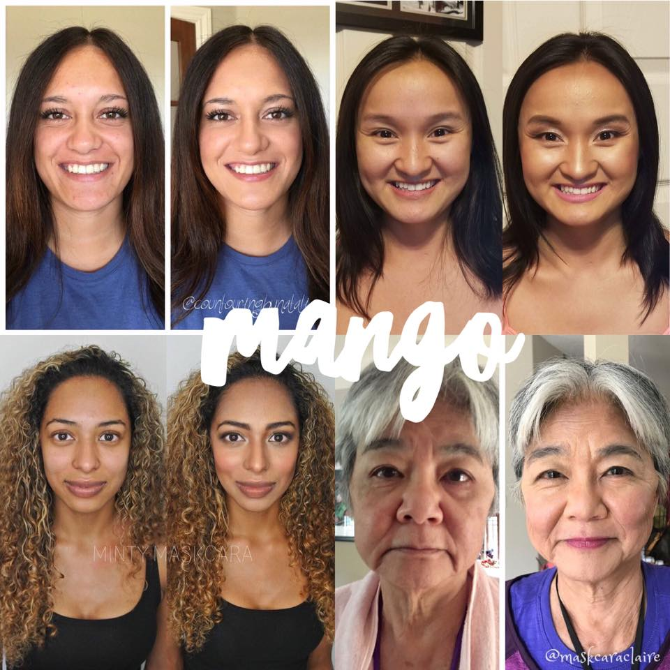 Maskcara Mango Before and Afters