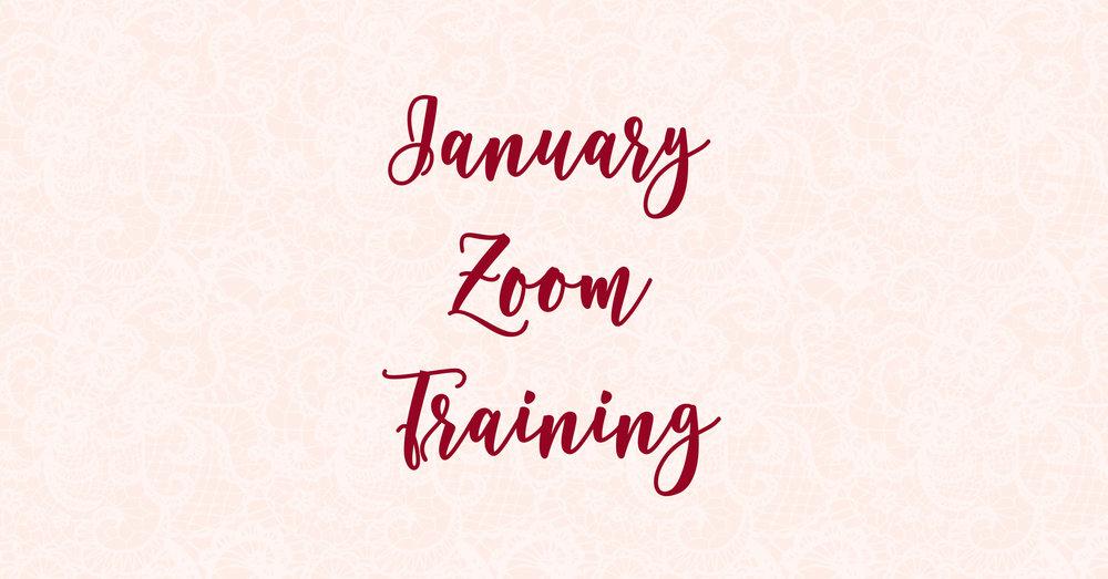 January Zoom Training