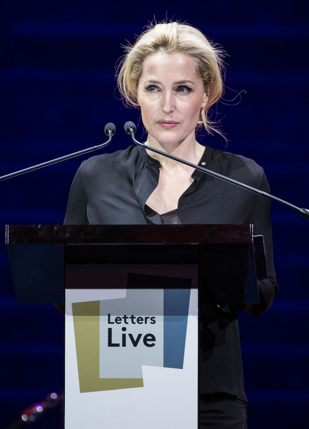 Gillian Anderson reading a Tennessee Williams letter at Letters Live