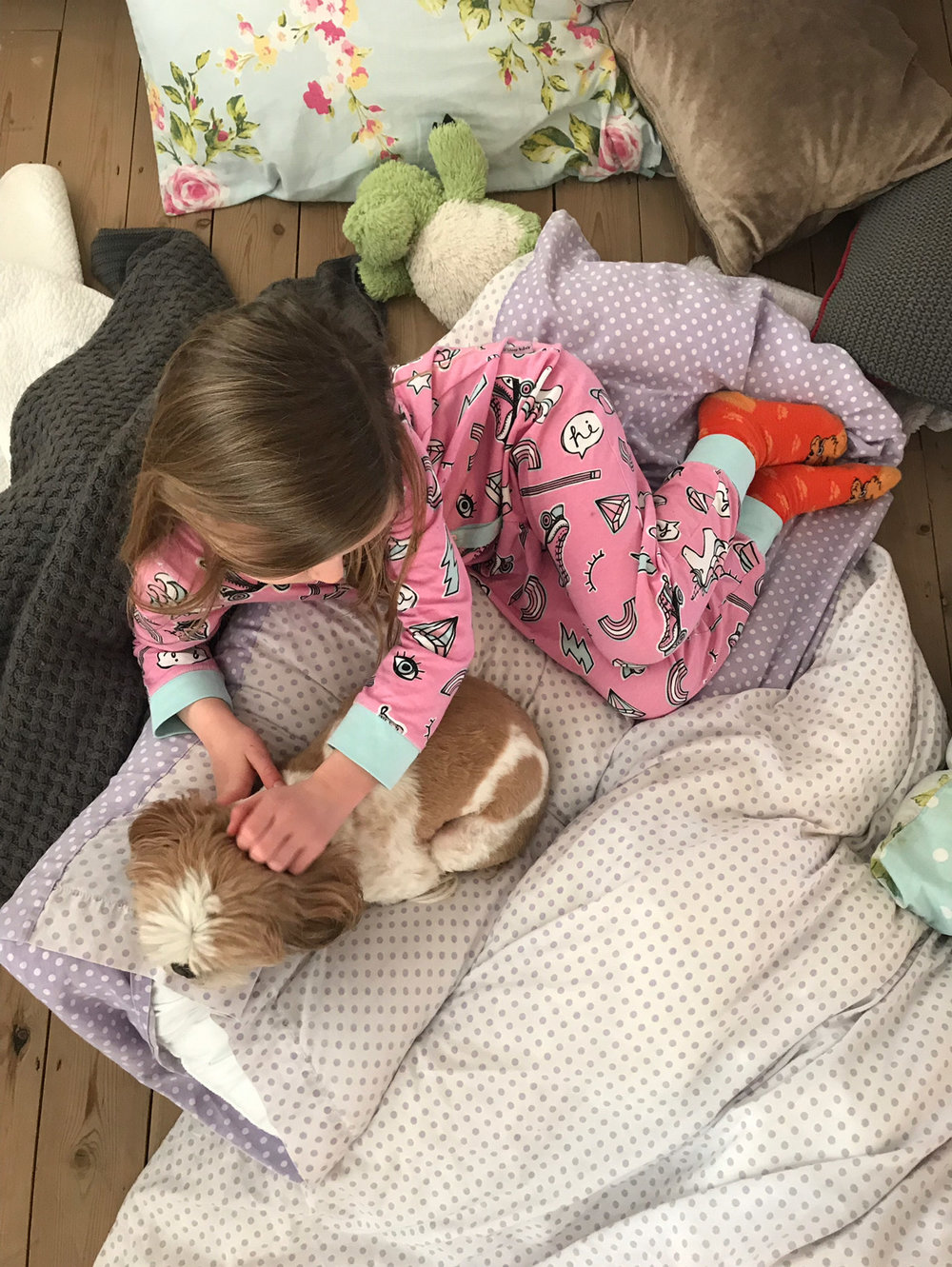 Scout and her puppy