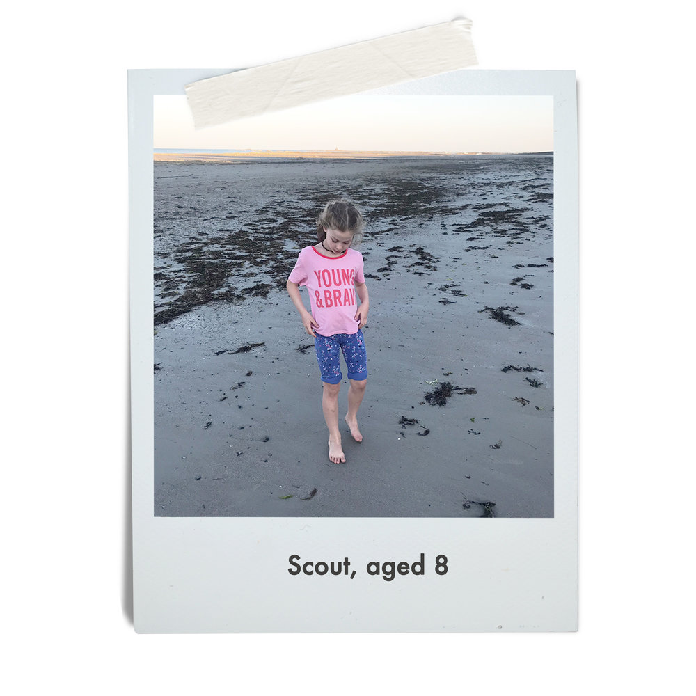 Scout, aged 8
