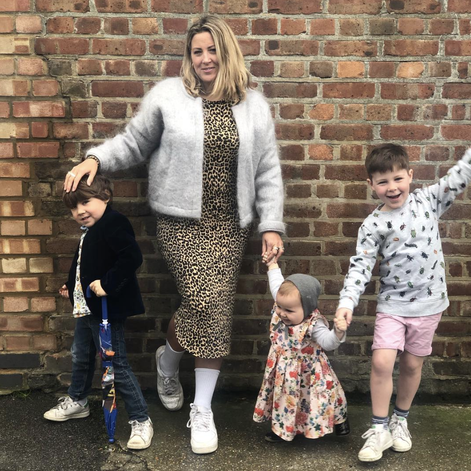 Clemmie Telford and her children
