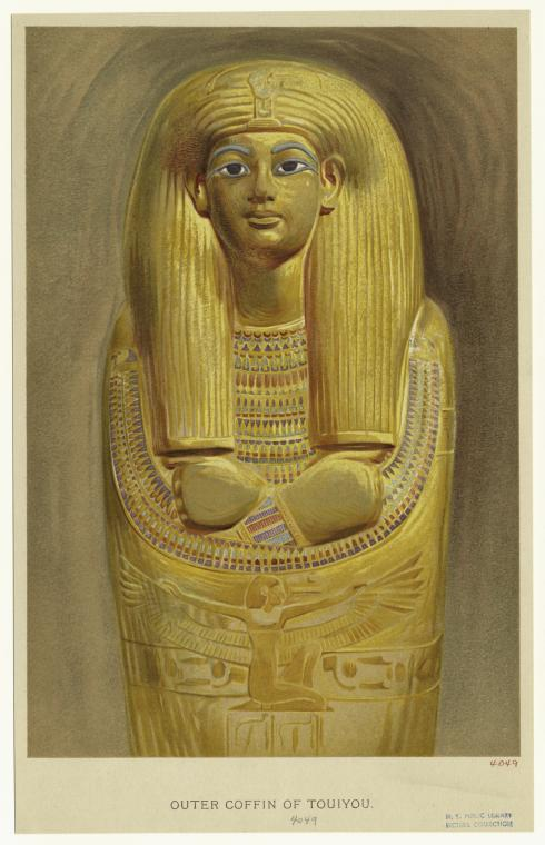 Art and Picture Collection,  The New York Public Library . (1907).  Outer coffin of Touiyou.