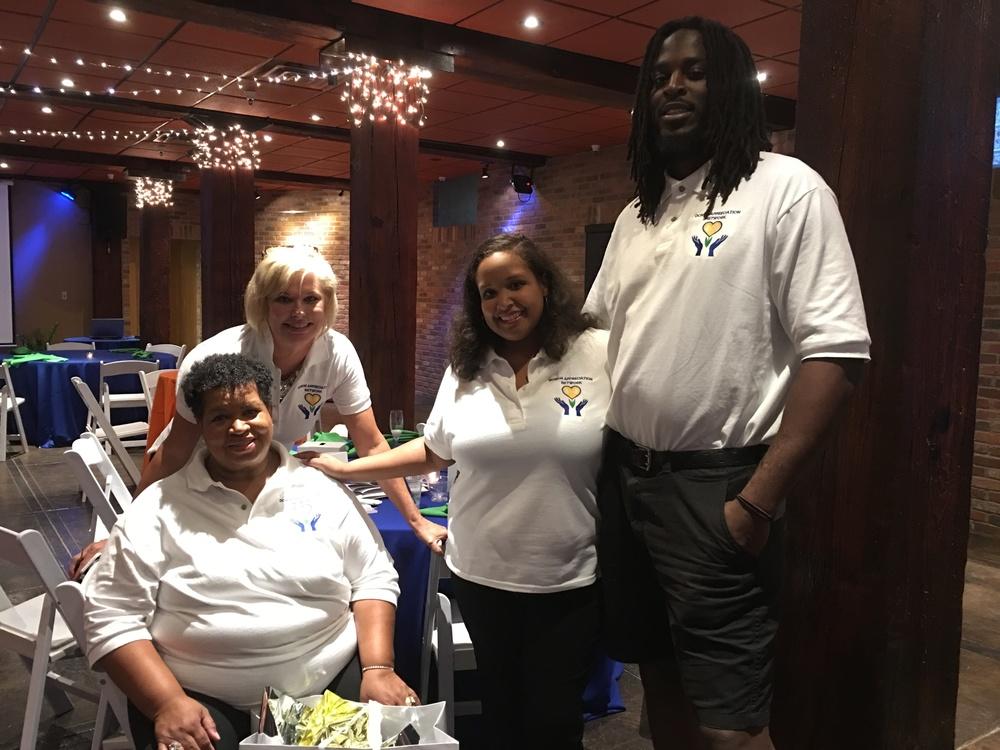 The Donor Appreciation Network team! L-R Tina, Lynne, Joy, Jason