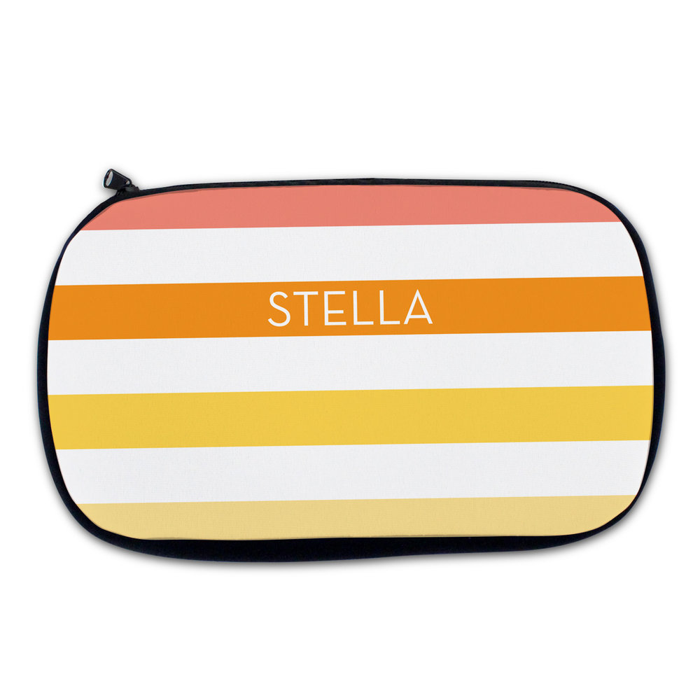 Melon Stripe Cosmetic Bag