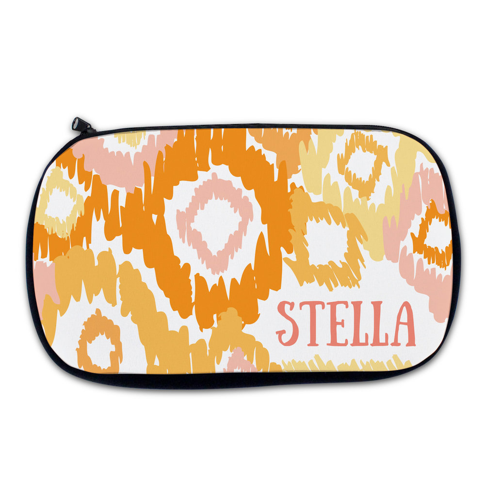Melon Ikat Cosmetic Bag