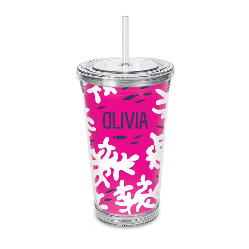 Coral Reef Straw Tumbler