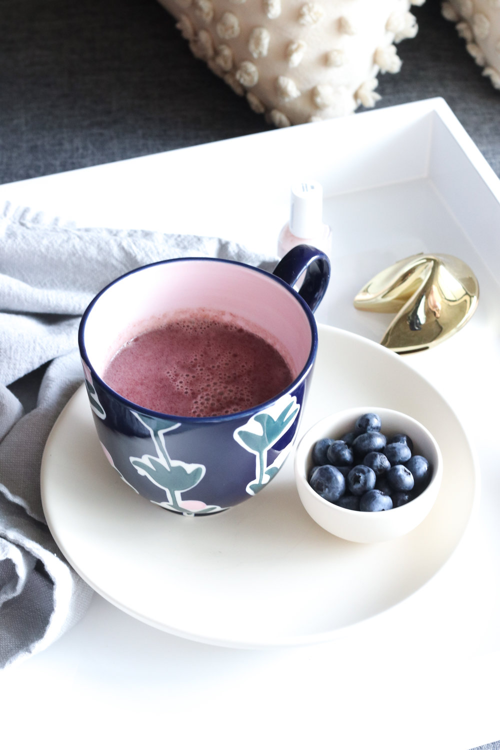 vegan blueberry london fog