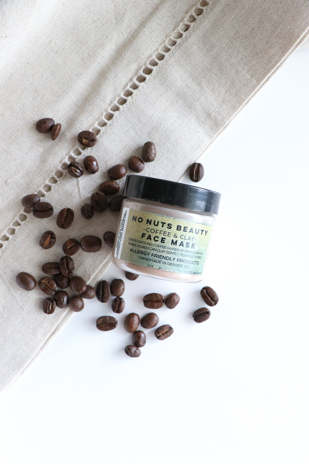 no nuts beauty coffee mask