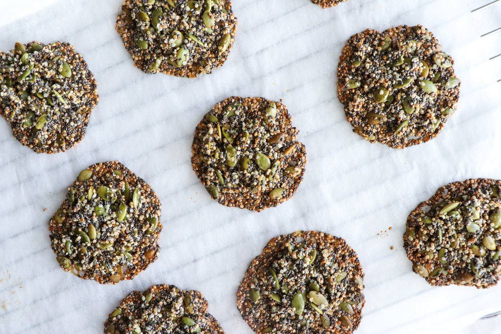 gluten free nut free seed crackers