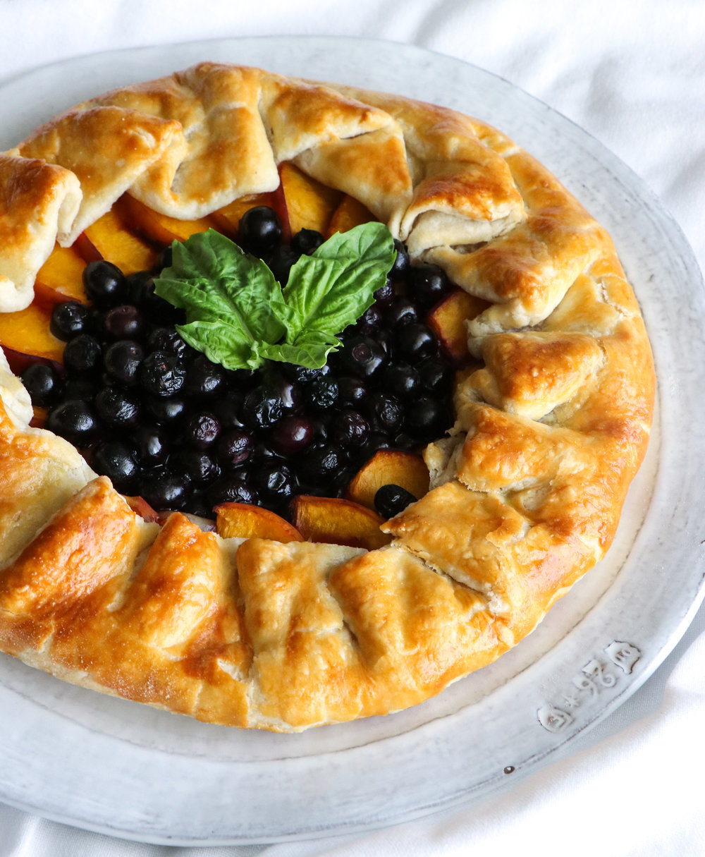 dairy free peach blueberry galette recipes