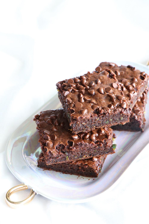 easy chocolate zucchini brownies recipe