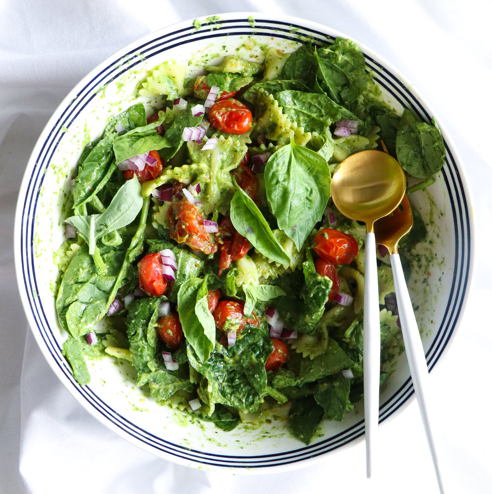 pasta salad with avocado spinach dressing cropped.jpg