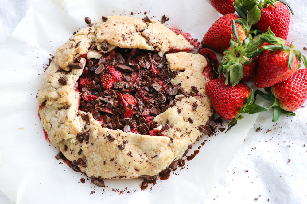 dairy free strawberry and chocolate galette recipe