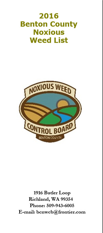 Listing of weeds found in Benton County.