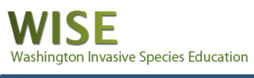 Washington Invasive Species Education, or WISE, Web site informs people about the invasive species problem, how invasive species are spread and introduced (pathways), and how we all can be part of the solution.