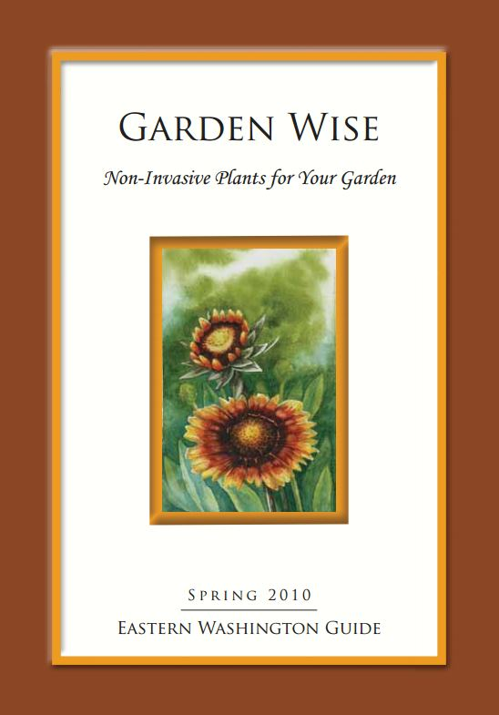 "PDF version of our popular new booklet which offers several non-invasive alternatives for 14 invasive ornamental and noxious weed. This book includes 26 additional plant recommendations for Eastern Washington gardens. Eighteen pages, 8"" x 11"".. Eastern Washington Version.    It was produced by WA Noxious Weed Control Board in collaboration with the Washington Invasive Species Coalition and the Washington State Nursery and Landscape Association."