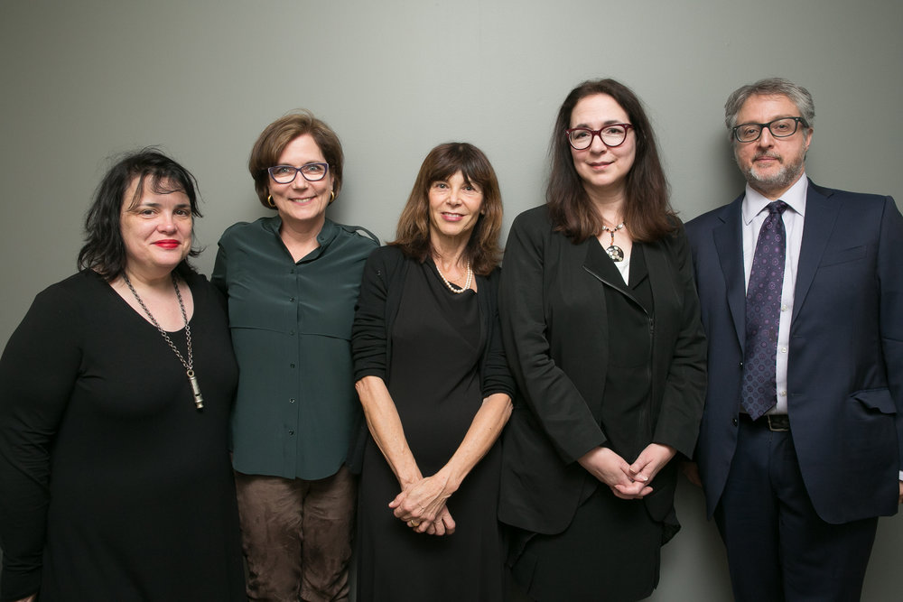 Elizabeth McCracken, Julie Lindsey, Francesa Marciano, Lorrie Moore, and Larry Dark. (Event photos by Beowulf Sheehan.)