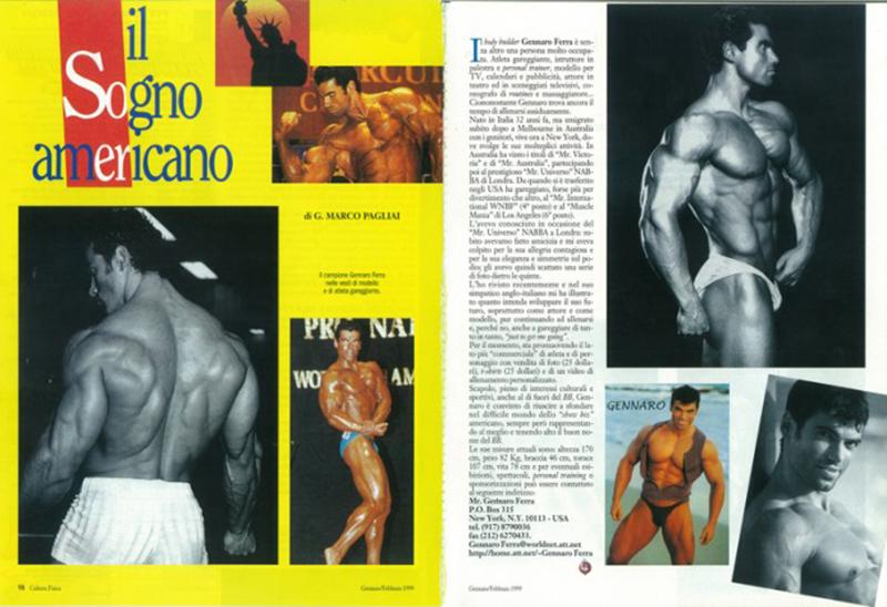 Cultura Fisica magazine , Italy