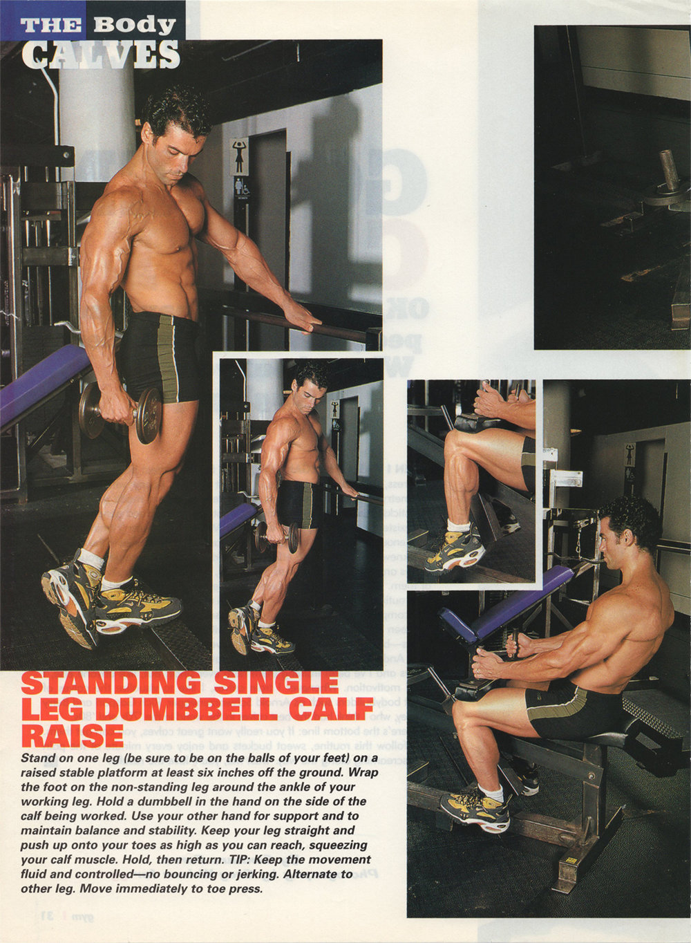 Gym magazine, calf routine