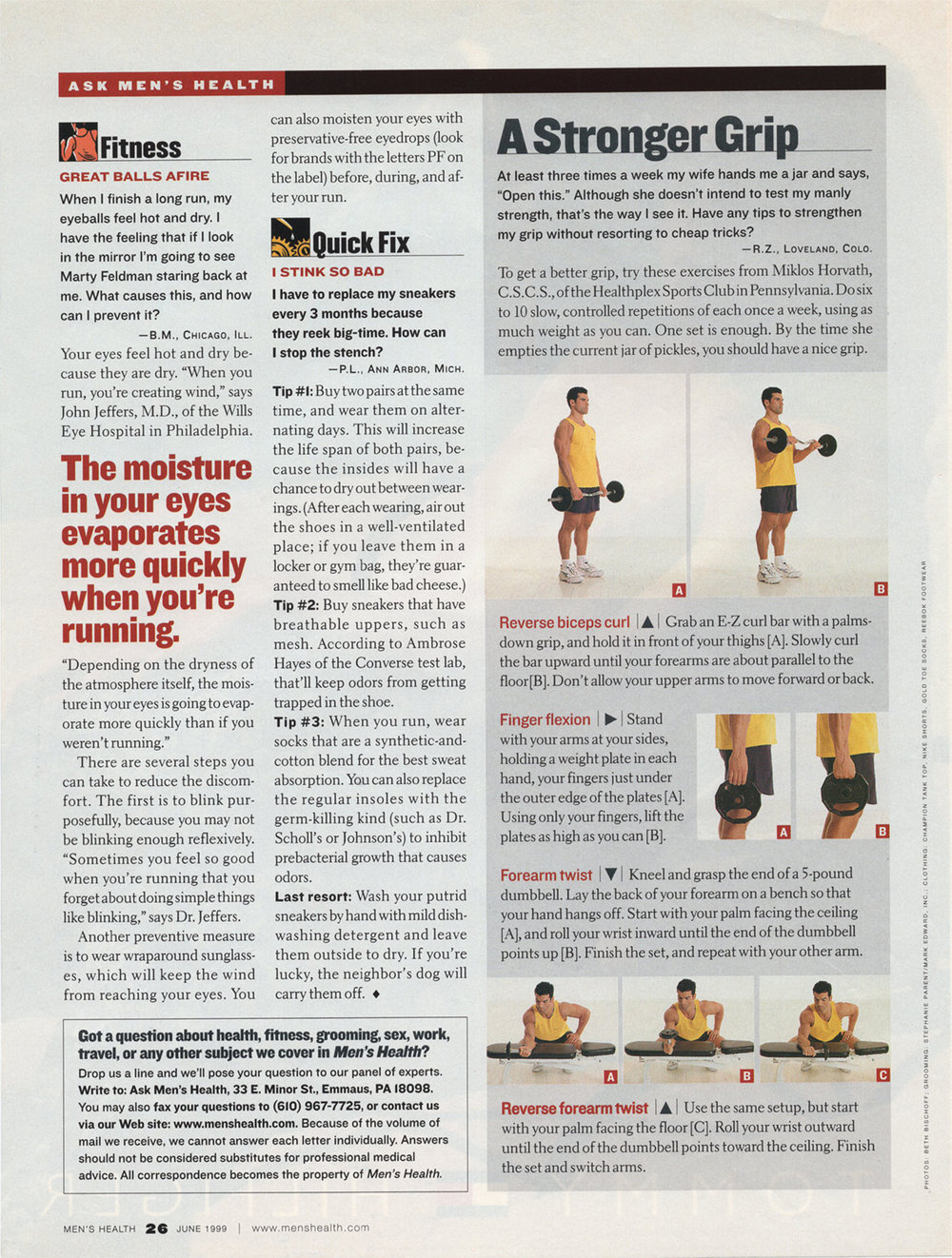 Men's Health Magazine, Arm Routine