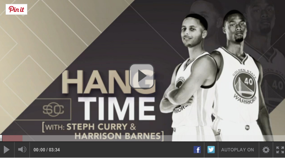 WARRIORS' STEPH CURRY AND HARRISON BARNES TALK ABOUT HOW FLOATING HELPS THEIR GAME IN THIS ESPN CLIP.