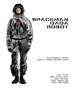 SPACEMAN DADA ROBOT Poster