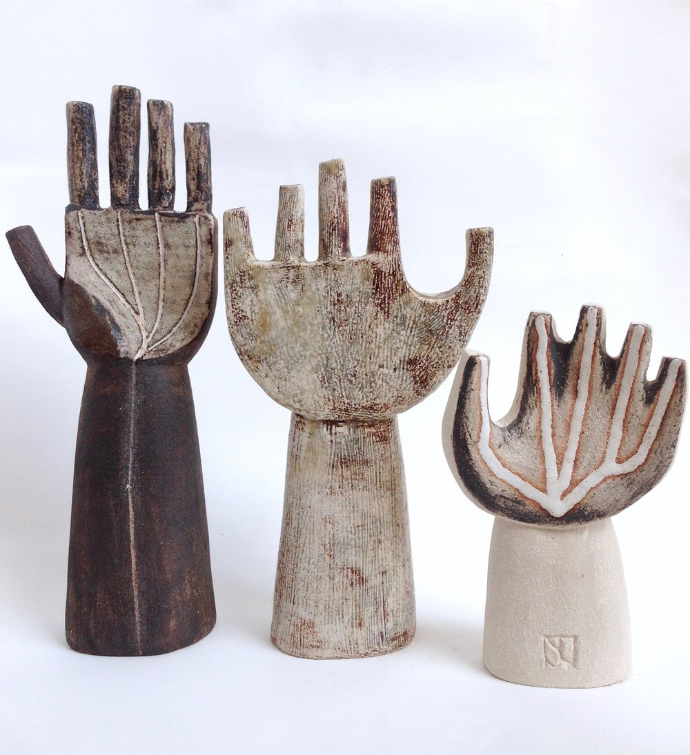 Ceramic hands: Delta, Curve and venule