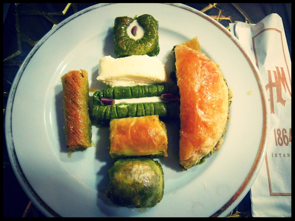Baklava tasting at Hafiz Mustafa