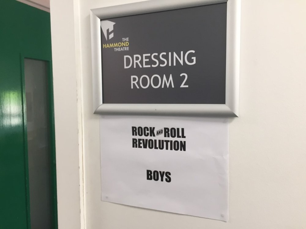The girls got dressing room one. And they say chivalry is dead.