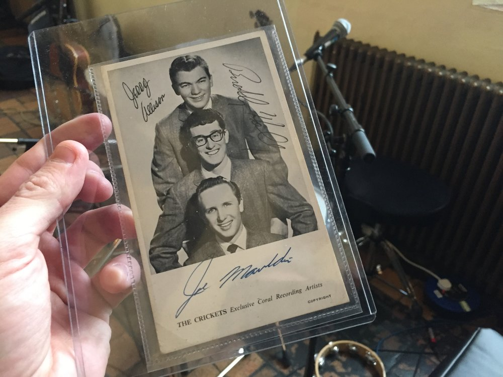 Publicity photo signed by Buddy Holly, Jerry Allison and Joe B. Mauldin.