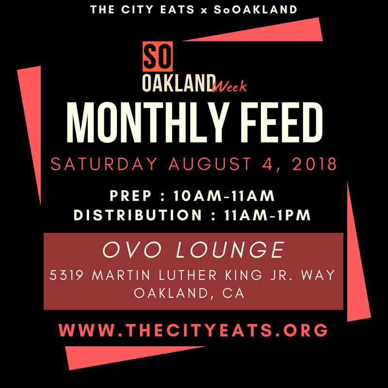 sat aug 4th @1oam  city eats: homeless feed @ovo