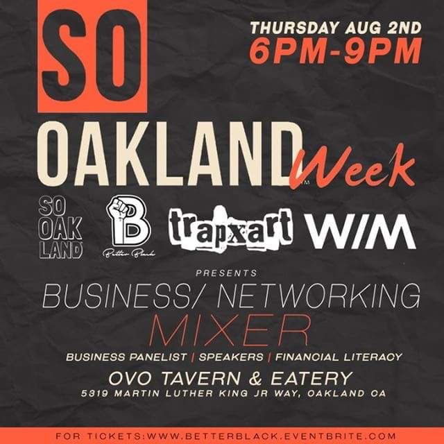 Thursday  aug 2nd @6pm    bETTER.bLACK.bUSINESS: mixer and panel discussion  @ovo tavern  entry:$5 Donation at door