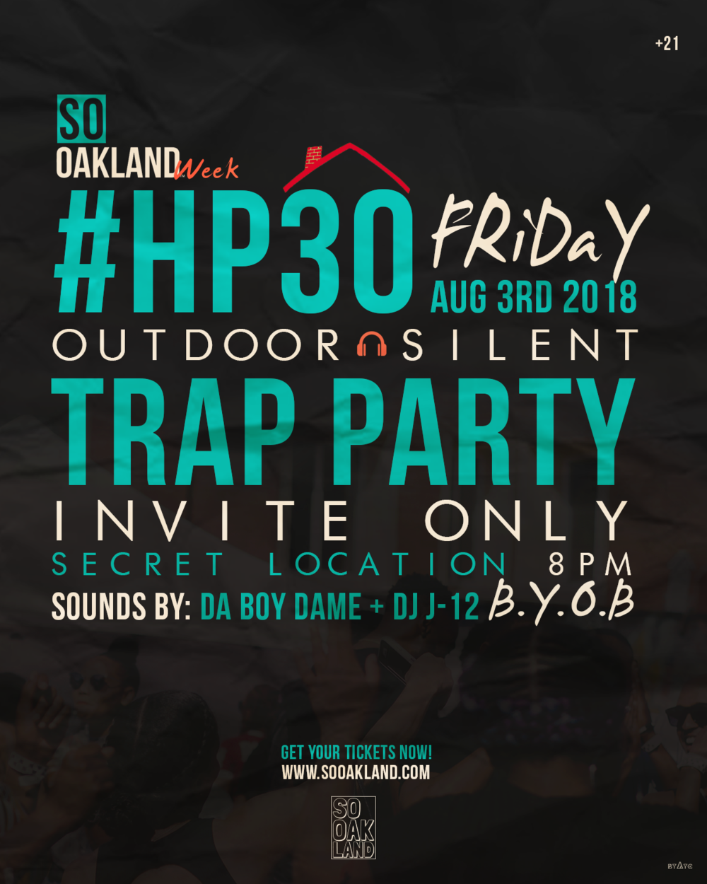 FRIDAY AUG 3RD @8PM  OUTDOOR SILENT TRAP PARTY @SECRET LOCATION  *sign up below to    receive invite