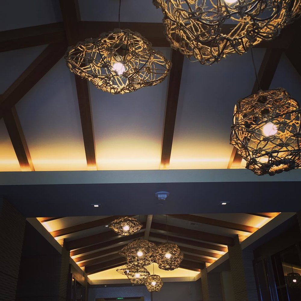 Pasea Hotel in Huntington Beach, CA — Lighting w/ Rope Work by Fussy Hussey