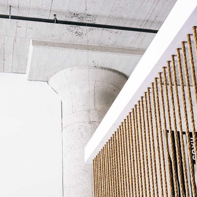 Funkhaus Design Studio in Los Angeles, CA — Rope Wall by Fussy Hussey