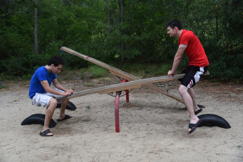 In the midst of our work, incorporating balance, community and playfulness.   Summer interns Caleb and Oleg demonstrated this at our 2016 staff retreat on Cape Cod.