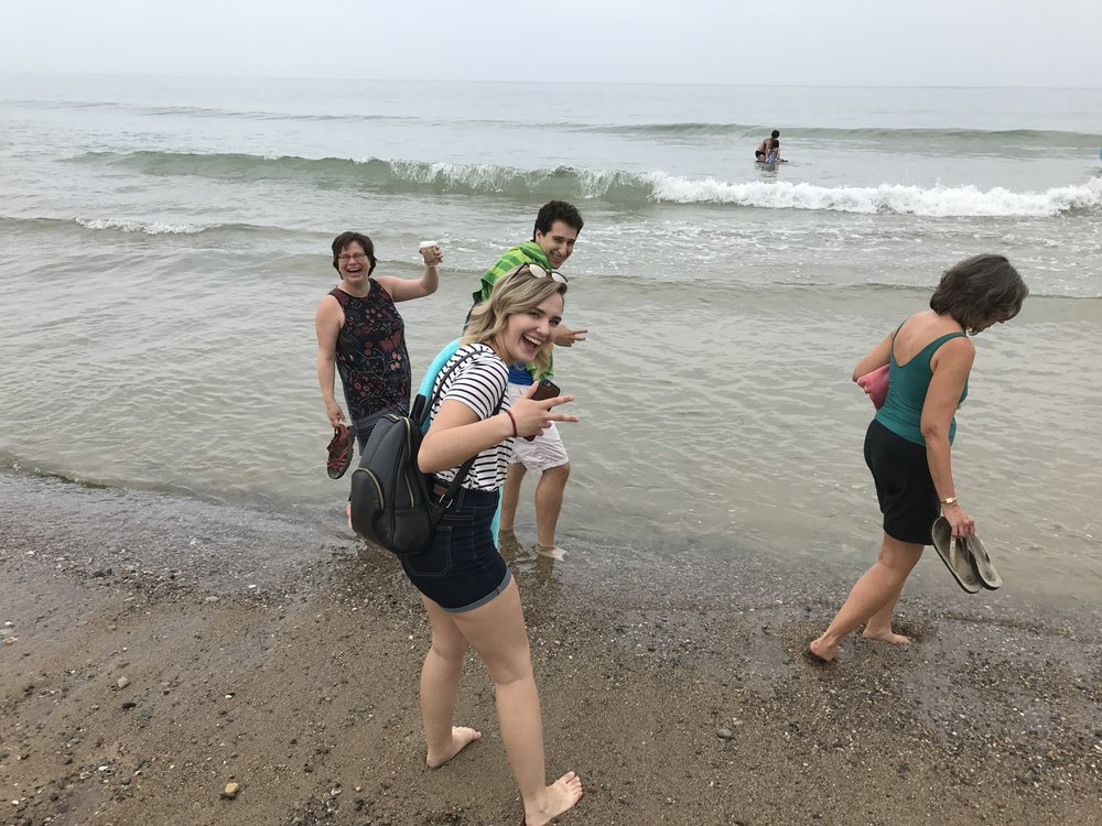 Our retreat day includes Cape Cod outings such as going to the beach.