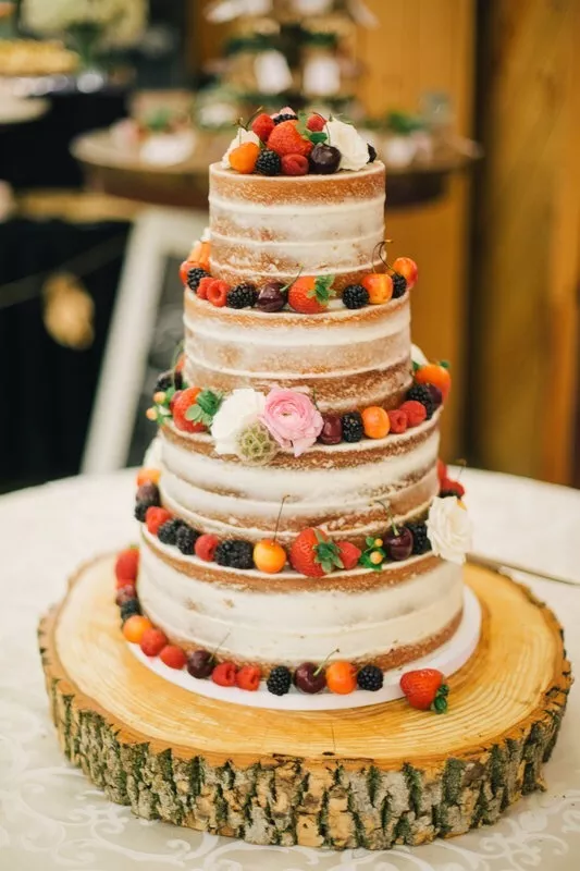 The Cake Is Natural And Understated Like Fall But It Striking In Its Simplicity
