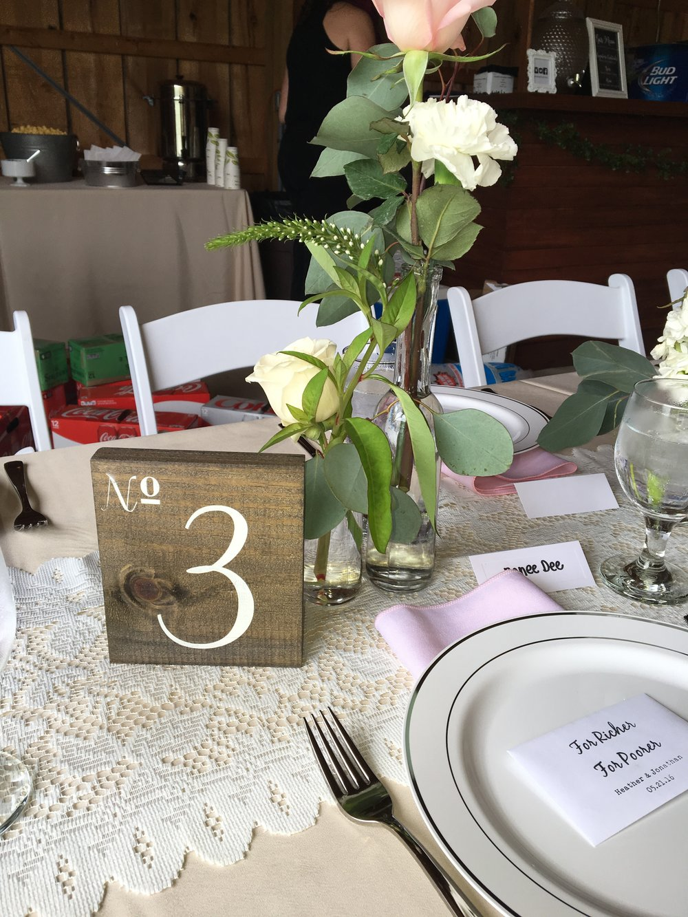 wooden table numbers 1-40
