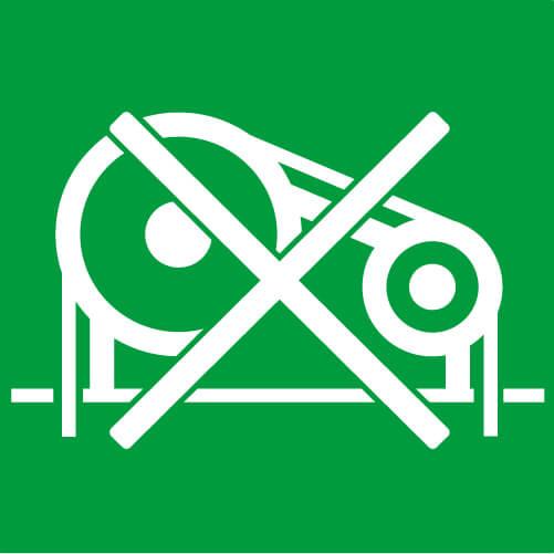 Assenza di locale macchine - Con i nostri elevatori elettrici non c'è bisogno di nessuno spazio per alloggiare centraline oleodinamiche e quadri di manovra: il gruppo motore è situato nel vano corsa e il quadro di manovra è integrato in una porta di piano.