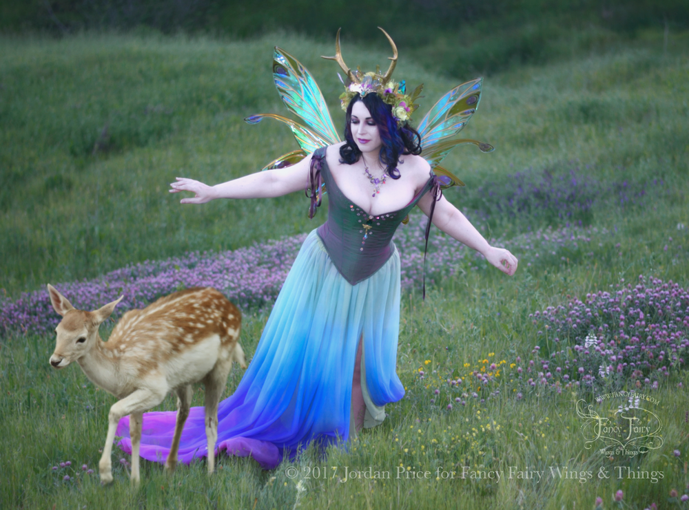 Twilight Fairy in Salome Fairy Wings with Deer