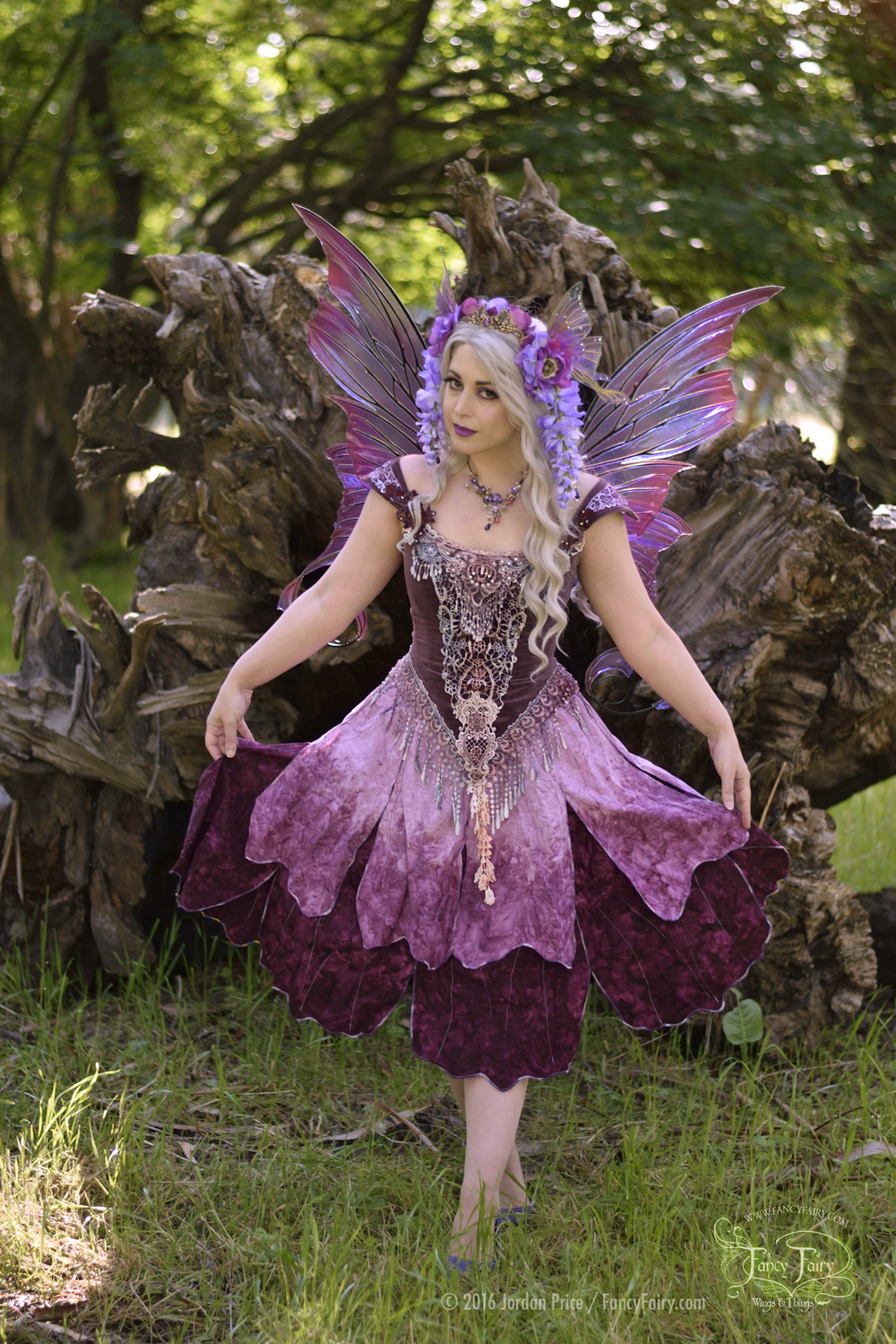 Wisteria Fairy in Aphrodite Fairy Wings